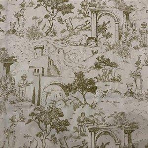 Tecido Cotton Estampado 100% Algodão - Provençal Bege