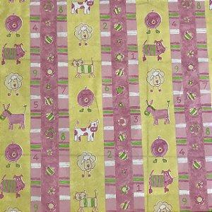 Tecido Cotton Estampado 100% Algodão - Infantil Rosa