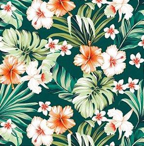 Aquatec 102779 Floral Fundo Petroleo