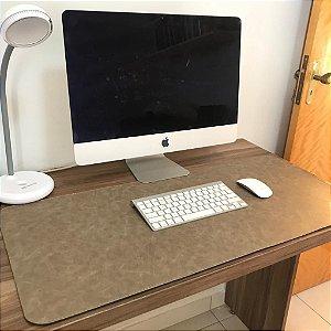 Desk Pad Couro Vegano Taupe - 90cm X 40cm - Costurado