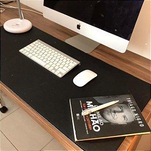Desk Pad Couro Vegano Preto - 90cm X 40cm - Costurado