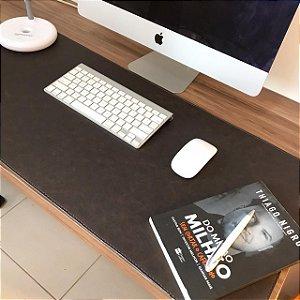 Desk Pad Couro Vegano Café - 90cm X 40cm - Costurado
