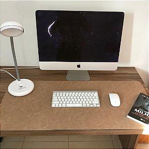 Desk Pad Couro Vegano Natural - 90cm X 40cm - Costurado