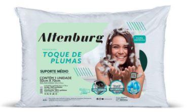 Travesseiro Altenburg Toque de Pluma Branco - 50cm x 70cm