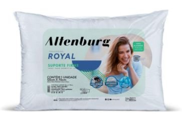 Travesseiro Royal Branco - 50cm x 70cm - Altenburg