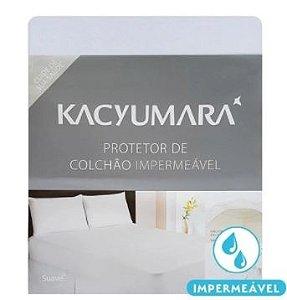 Protetor de Colchão Algodão Impermeável - Casal - Kacyumara