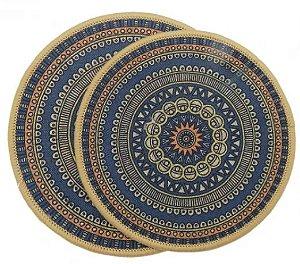 kit Descanso p/ Panela 2 peças - Azul escuro - Kacyumara