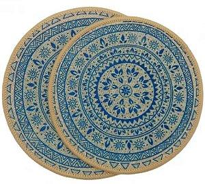 kit Descanso p/ Panela 2 peças -Azul Turquesa - Kacyumara