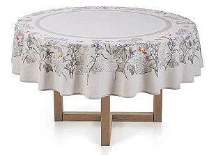 Toalha de mesa Redonda 6 lugares  Marila - Cinza - Karsten