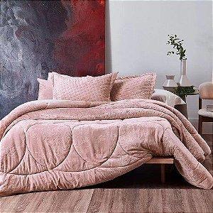 Edredom / Coberdrom Altenburg Blend Elegance Plus Premium Linear Bloom - Rosa - Queen
