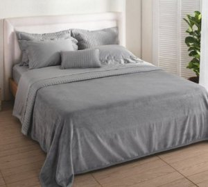 Cobertor Aspen - Solteiro - Cinza - Buddemeyer
