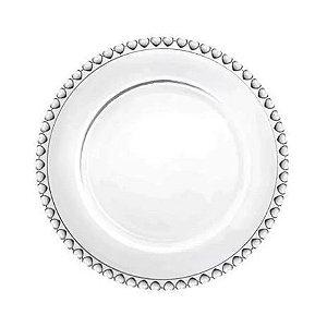 Prato para Sobremesa de Cristal Coração Lyor - 20cm