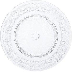 Prato Raso Para Bolo de Vidro Angel Lyor - 30X30X2,50cm