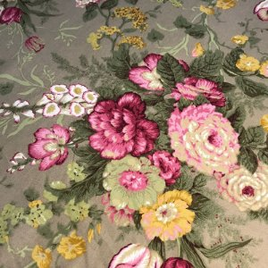 Tecido Pure Linem Estampado /Floral/Rosa  - Fiama