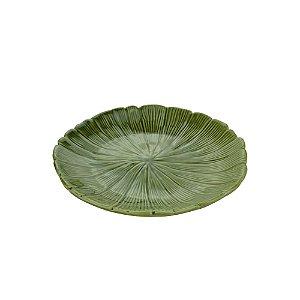 Prato Decorativo De Cer Banana Leaf Verde Lyor 19,5x19,5x3cm