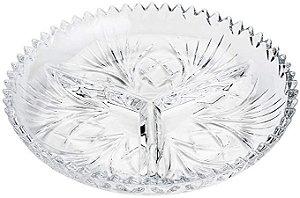 Petisqueira C/3 Divisorias De Cristal Alberta Lyor 34x4cm