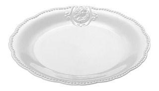 Prato Raso De Porcelana Super White Queen Lyor 27cm
