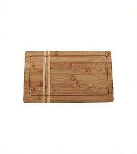 Tabua Churrasco De Bambu 32X24X1,8cm - Oikos