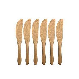 Kit De 6 Mini Facas De Bambu - Oikos