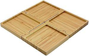 Petisqueira Desmontavel De Bambu Quadrada - Oikos
