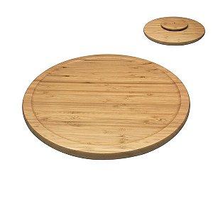 Tabua De Bambu Com Base Giratória - Oikos