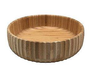 Bowl Canelado De Bambu G 22CM - Oikos