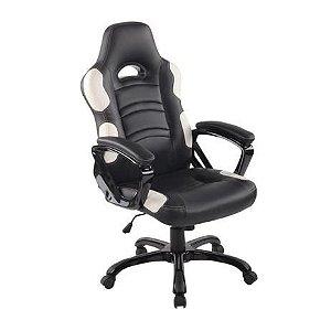 Cadeira Office Flash Preto E Branco - Rivatti