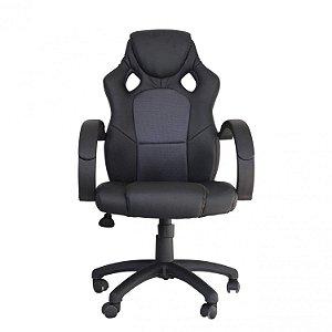 Cadeira Office Racer Preto E Cinza - Rivatti