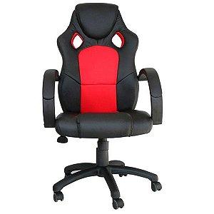 Cadeira Office Racer Preto E Vermelho - Rivatti