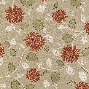 Tecido Estampado K Verona - Floral Bege