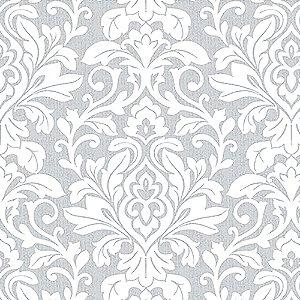 Tecido Estampado Art Decor - Celina Cinza