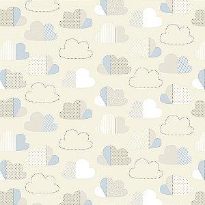 Tecido Estampado Verona - Ceu Azul