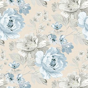 Tecido Estampado Art Decor - Joana Azul 002