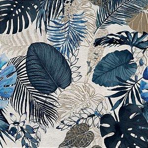 Garden linho 700978 Cor 006 Floral azul