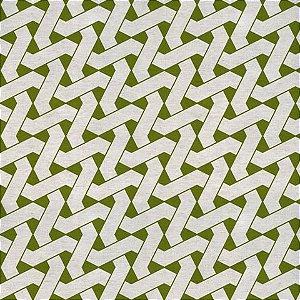 Garden linho 700980 Cor 005 Geometrico verde