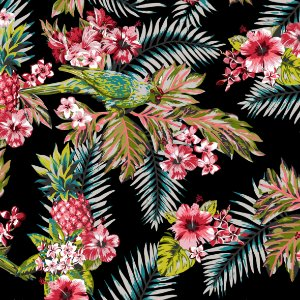 Aquatec Floral Preto C18 - Fiama