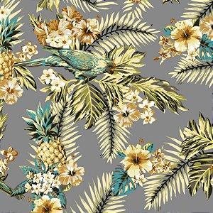Aquatec Floral Cinza Amarelo C18 - Fiama