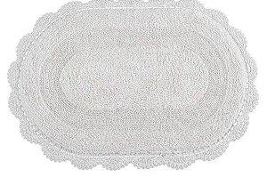 Tapete Oval de Croche 50X80 - Branco - Kacyumara