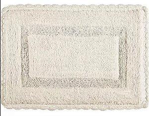 Tapete Croche Retangular 60X120 - Cru - Kacyumara