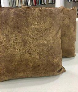 Almofada de Veludo Marrom - 50X50