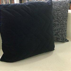 Almofada de Veludo Preta - 50X50