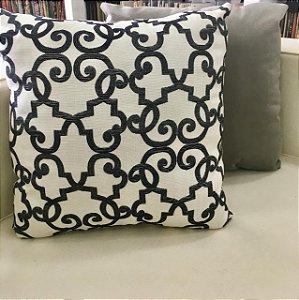 Almofada de jacquard branca - 50X50