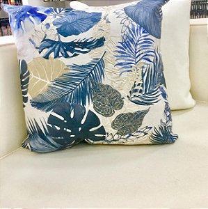 Almofada estampada azul - 50X50