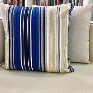 Almofada azul listrada- 50X50