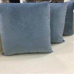 Almofada de Veludo Azul Serenity - 50X50