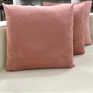 Almofada de Veludo Rosa - 50X50