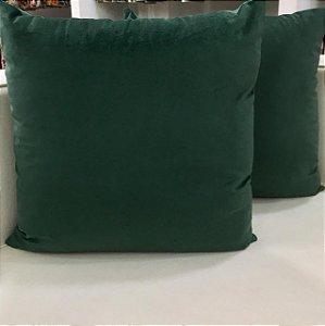 Almofada Veludo Verde Escuro - 50X50