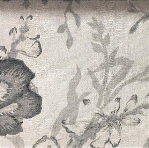 Linho Pure Linen 1277 - Floral Cinza 04