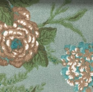 Linho Pure Linen 1277 - Floral Verde 03
