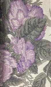 Linho Pure Linen 1277 - Floral Lilas 02